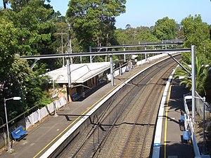 Cheltenham, New South Wales - Image: Cheltenham Railway Station 2