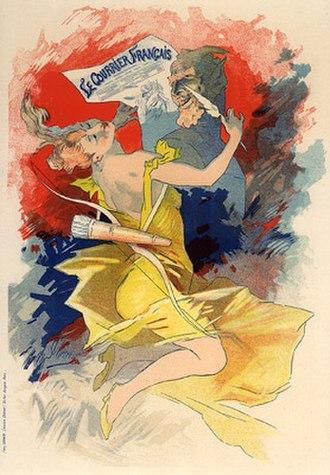 Le Courrier français (1884–1914) - 1892 poster by Jules Chéret
