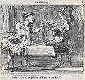 Chevalier..., c'est à vous que je bois!...., from En Carnaval, published in Le Charivari, March 4, 1859 MET DP876821.jpg