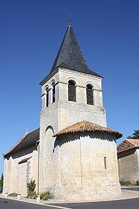 Chevet et clochet de l'Eglise Saint-Vincent-Jalmoutiers en dordogne -24-photo 2.JPG