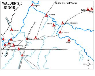 Chickamauga Cherokee - The original 'Chickamauga Towns'  of Dragging Canoe's followers, along with the Hiwassee towns and the towns on the Tellico