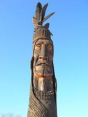Chief Grey Lock Sculpture Monument in Burlington, Vermont