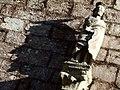 Chiesa di San Pietro (Leonessa) - statua sopra il portale (6704708119).jpg