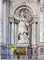Chiesa di Sant'Andrea Apostolo ou della Zirada Venezia - lato destro, secondo altare statua marmorea Santa Maria di Cleofa (secolo XVIII).jpg
