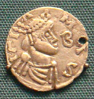Childebert III - A coin of Childebert III, now in the British Museum