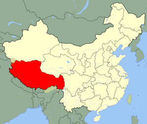 An SVG map of China with the Tibet autonomous ...