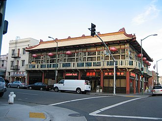 Chinatown, Oakland - Legendary Palace restaurant at the corner of Franklin and 7th st in Oakland.