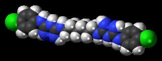 Chlorhexidine - Image: Chlorhexidine 3D spacefill