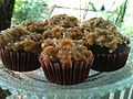 Chocolate fudge cupcakes with coconut pecan frosting (5046791188).jpg