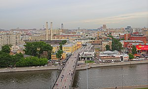 Balchug - A view over Balchug and the Moskva River, as seen from the Cathedral of Christ the Saviour