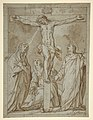 Christ Crucified, Attended by the Virgin, Saint Mary Magdalen, and Saint John the Evangelist MET DP811832.jpg
