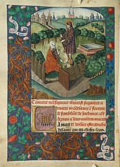 Christ appears to Mary Magdalen as a gardener (Noli me tangere)