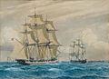 Christian Blache - Skibe på Øresund med København i baggrunden.jpg