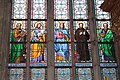 Christian saints. Stained glass in St. Vitus Cathedral, Prague.jpg