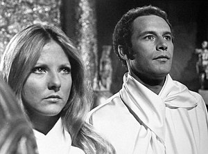 Christina Hart - Hart with Jared Martin in The Fantastic Journey, 1977.