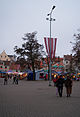 Christmas Market and Latvian flag (8229162033).jpg