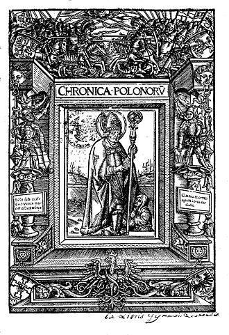 Chronica Polonorum (1519) - Cover of second edition of Chronica Polonorum, 1521