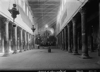 Church of the Nativity - The interior of the Church of the Nativity in the 1930s