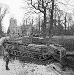Churchill IV tank enters an English village during Exercise 'Spartan', 9 March 1943. H27928.jpg