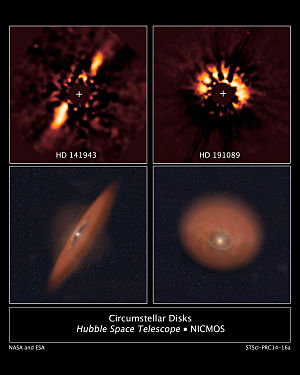 Circumstellar disc - Image: Circumstellar Disks HD 141943 and HD 191089
