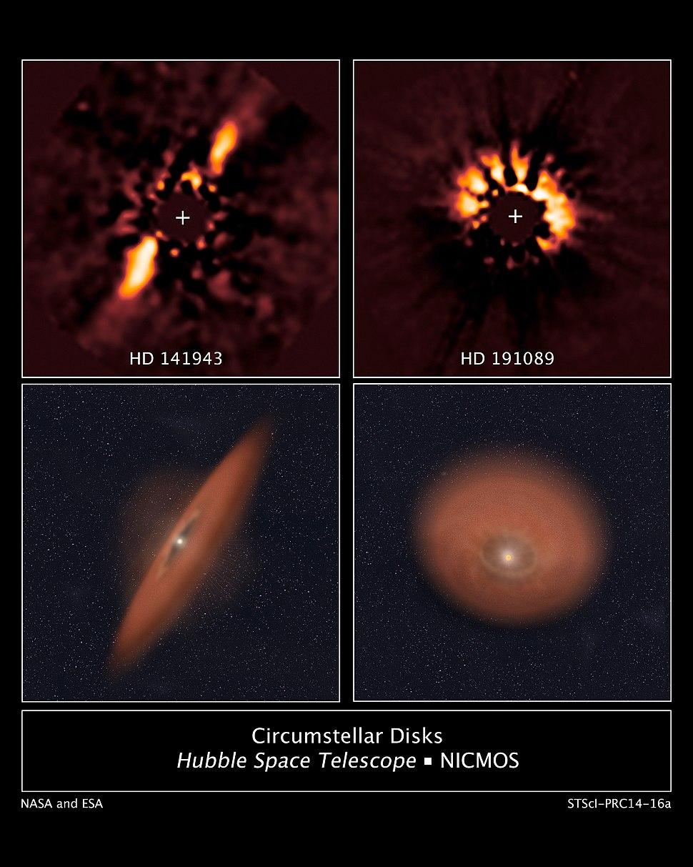 Circumstellar Disks HD 141943 and HD 191089