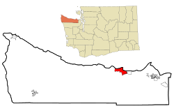 Location of Port Angeles, Washington
