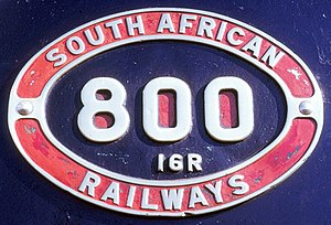 South African Class 16 4-6-2 - Image: Class 16R no. 800 ID