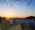 Cleveland, Ohio Skyline at Sunrise at Lakewood Park (8668204943).jpg