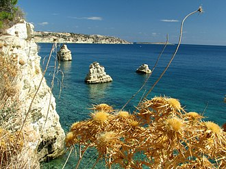 Souda - Image: Cliffs and venetian fortress of Souda