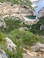 Climbing down to Stiniva beach, island of Vis, Croatia (3).jpg