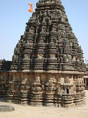 Lakshmeshwara - Image: Close up of vimana and sikhara of the Someshwara temple at Lakshmeshwara