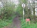 Closed Bridal Way - geograph.org.uk - 1254123.jpg