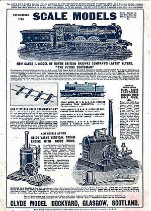 Clyde Model Dockyard - 1914 advert