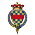 Coat of Arms of Sir John Clifford, 7th Baron de Clifford, KG.png