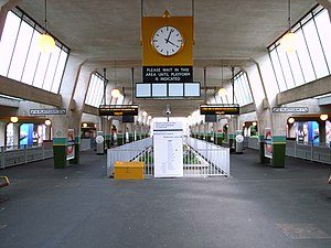 Cockfosters tube station - Image: Cockfosters interior