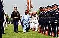Col. Thomas M. Jordan escorts President Olusegun Obasanjo, 2001.jpg