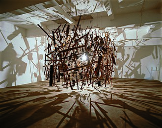 Cornelia Parker - Cold Dark Matter (An Exploded View) 1991