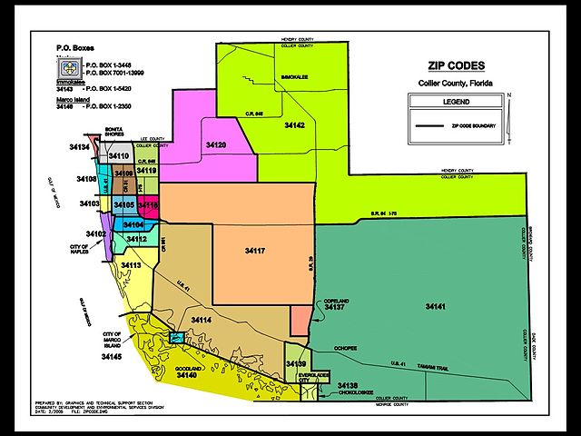 collier county florida map zip codes