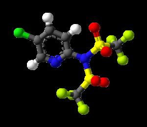 Comins' reagent - Image: Comin's reagent 3D balls