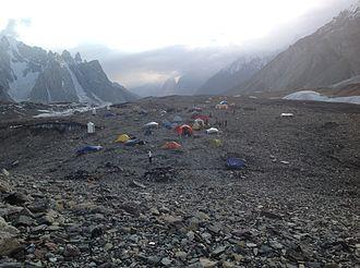Concordia (Karakoram) - View of Concordia, looking west