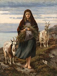 Connemara Girl (National Gallery of Ireland) 1868 painting by the Irish artist Augustus Nicholas Burke (July 28, 1838 – 1891).