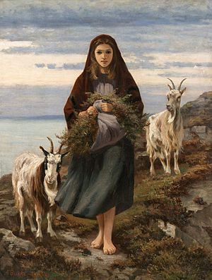 Augustus Nicholas Burke - Connemara Girl (National Gallery of Ireland)