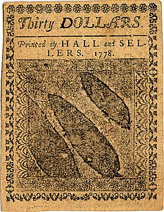 Continental Currency $30 banknote reverse (September 26, 1778).jpg