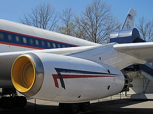 General Electric CJ805 - A CJ805-3A turbojet installed on a Convair 880 airliner
