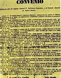 Pasquín con el texto íntegro del Convenio de Oñate que se imprimió en 1839 para ser repartido por todos los frentes de batalla
