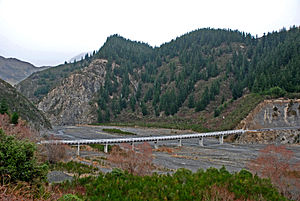 Conway River (New Zealand) - Conway River Bridge, Inland Kaikoura Road