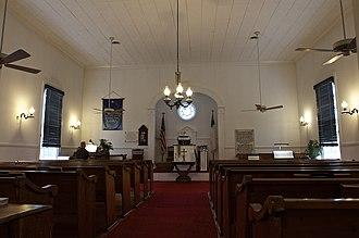 Cool Spring Presbyterian Church - Image: Coolspring Church Interior