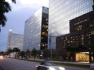 Coral Gables, Florida - Alhambra Circle is Coral Gables' primary financial street with numerous high-rise office buildings