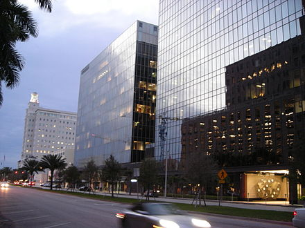 Alhambra Circle is Coral Gables' primary financial street with numerous high-rise office buildings CoralGables3.JPG