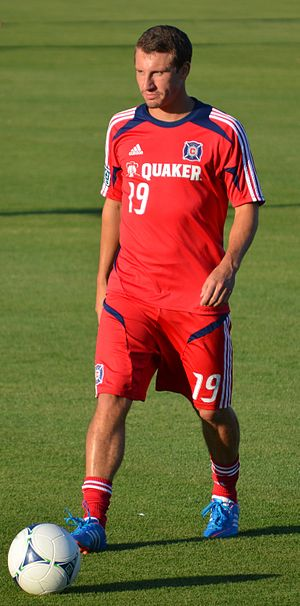 Corben Bone - Bone playing with Chicago Fire in 2012